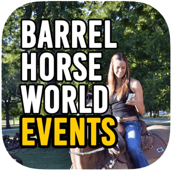 Barrel Racing events app by Barrel Horse World
